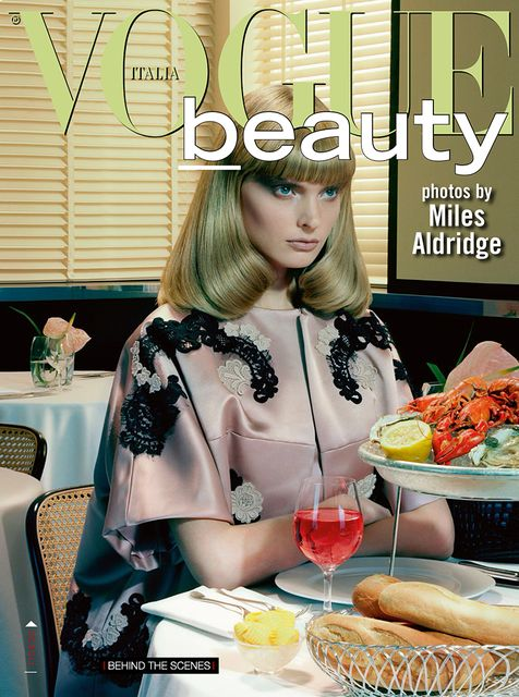 Agnete Hegelund by Miles Aldridge for Vogue Italia December 2013