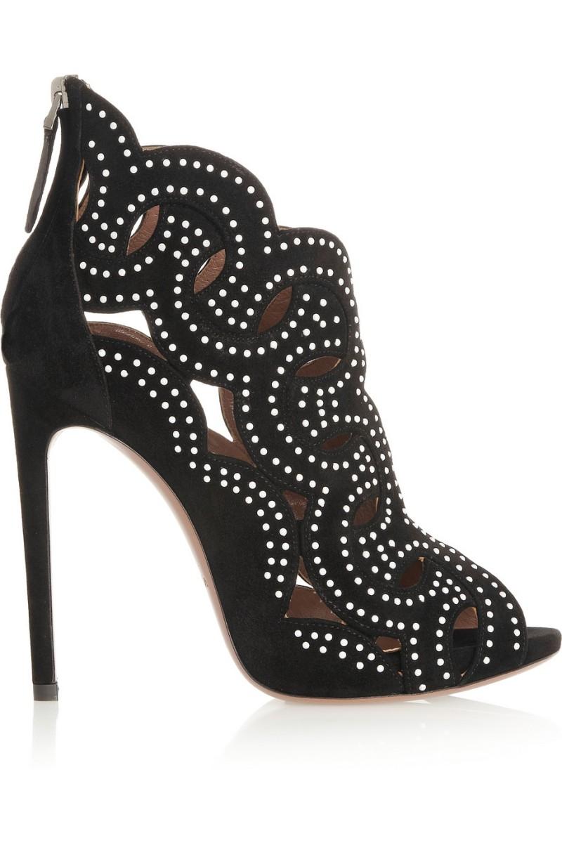 ALAÏA Cutout studded suede sandals €1,455