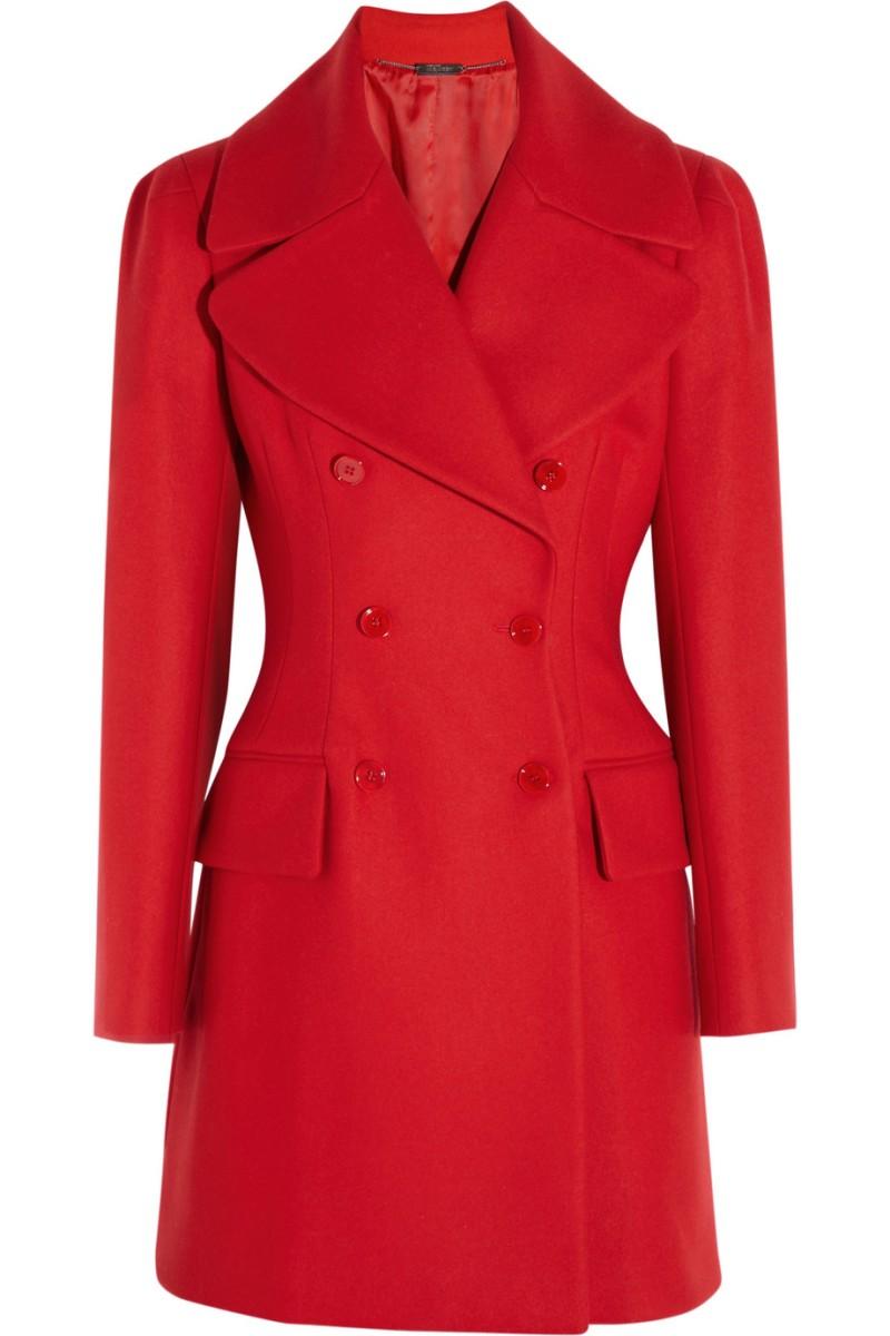 ALEXANDER MCQUEEN Wool and cashmere-blend felt coat €1,875