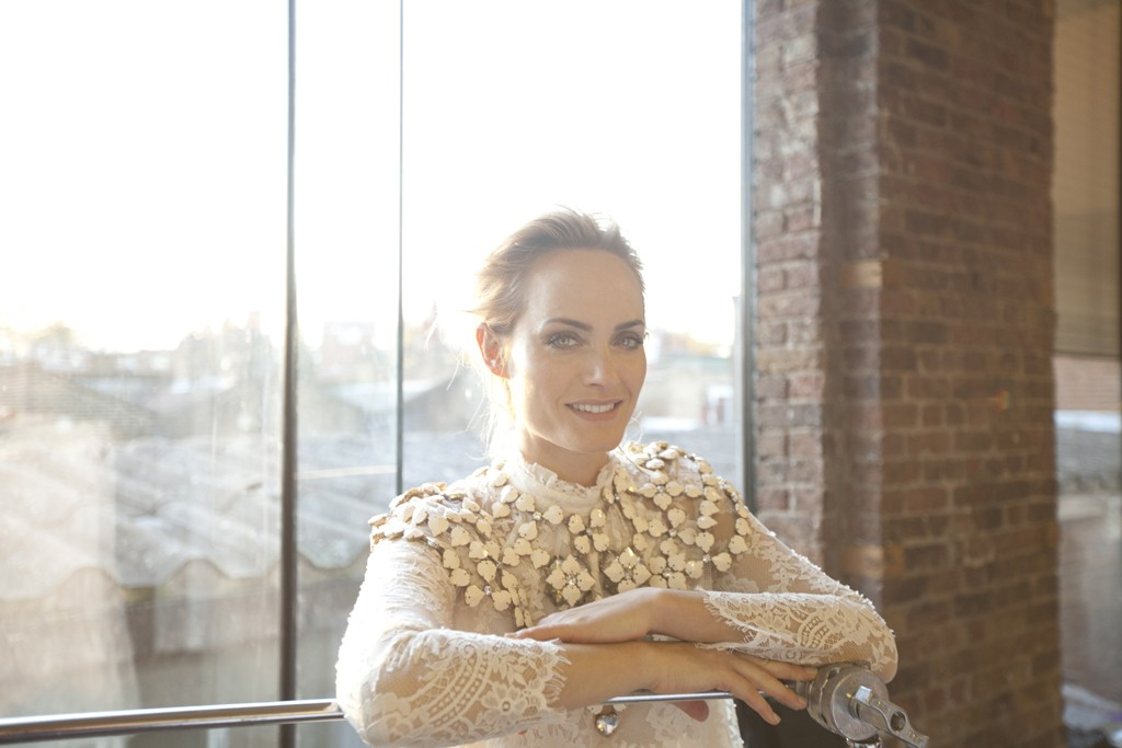 Amber Valletta on the set of H&M's Conscious Collection campaign.