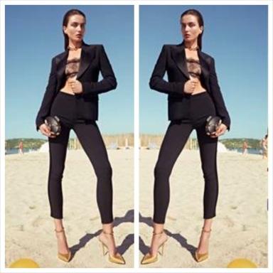 Andreea Diaconu by Karim Sadli for Giuseppe Zanotti S/S 2014 Ad Campaign