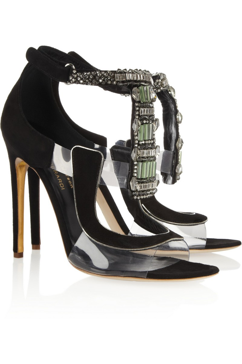 ANTONIO BERARDI + Rupert Sanderson Apex suede and PVC sandals €1,995