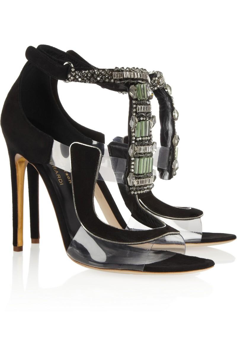 ANTONIO BERARDI + Rupert Sanderson Apex suede and PVC sandals €1,995