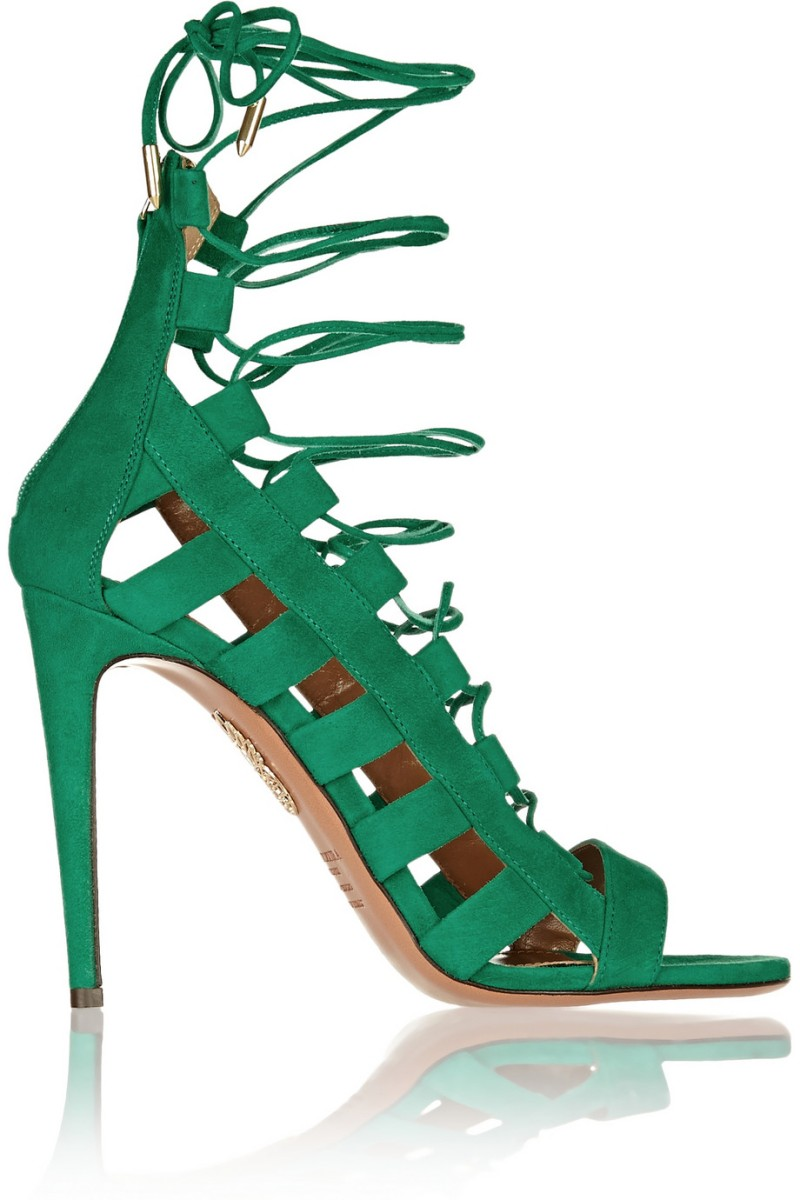 AQUAZZURA Amazon cutout suede sandals €565