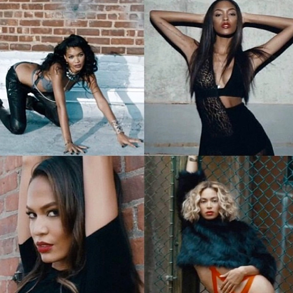 Beyoncé, Joan Smalls, Jourdan Dunn and Chanel Iman in her new video