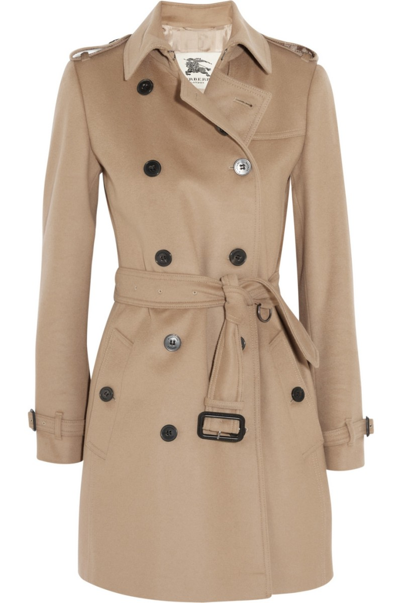 BURBERRY LONDON Mid-length wool and cashmere-blend trench coat €1,195