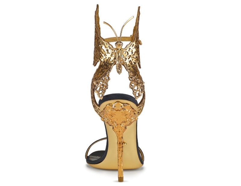 Butterfly sandals in leather and metal, Sergio Rossi tribute to Gabriella Crespi, €890