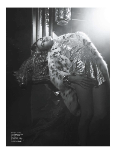 Camille Rowe-Pourcheresse by Patrik Sehlstedt for L'Officel December 2013/January 2014