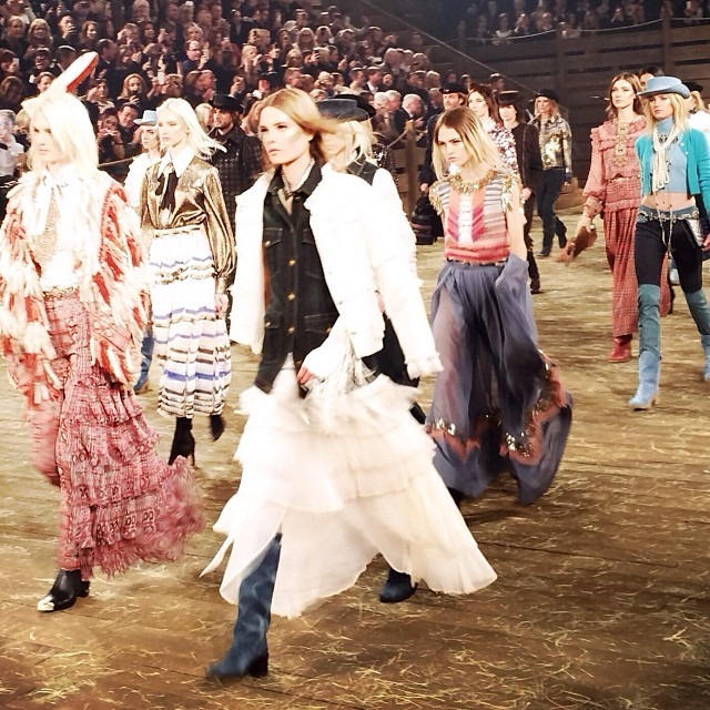 Chanel's Métiers d'Art Paris-Dallas seen on Instagram
