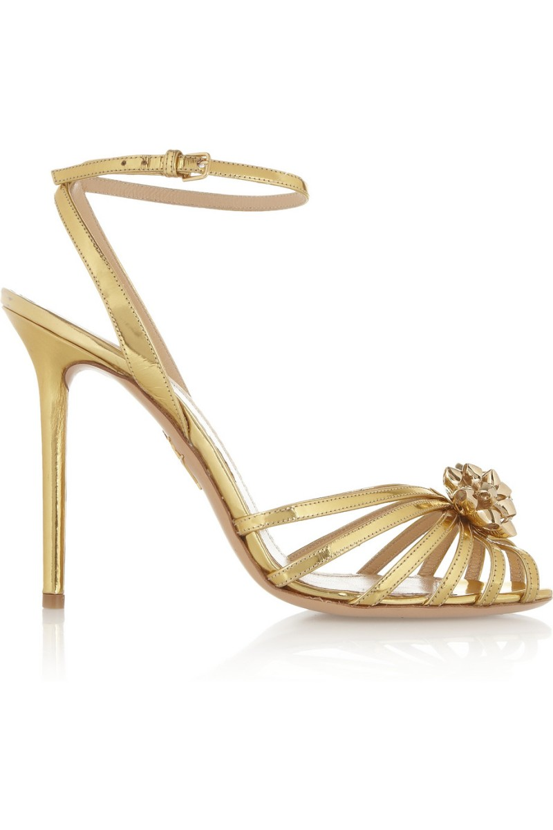 CHARLOTTE OLYMPIA Surprise! metallic leather sandals €845