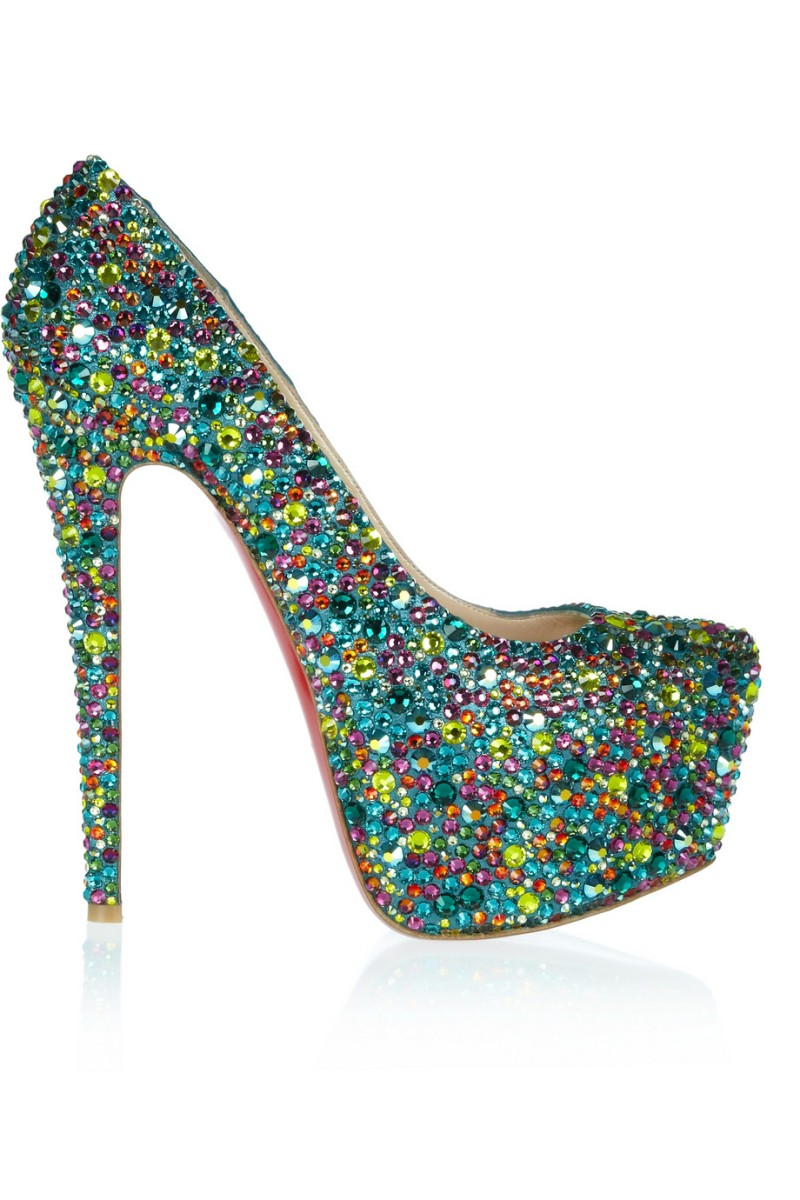 CHRISTIAN LOUBOUTIN Daffodile 160 crystal-embellished leather pumps €4,195