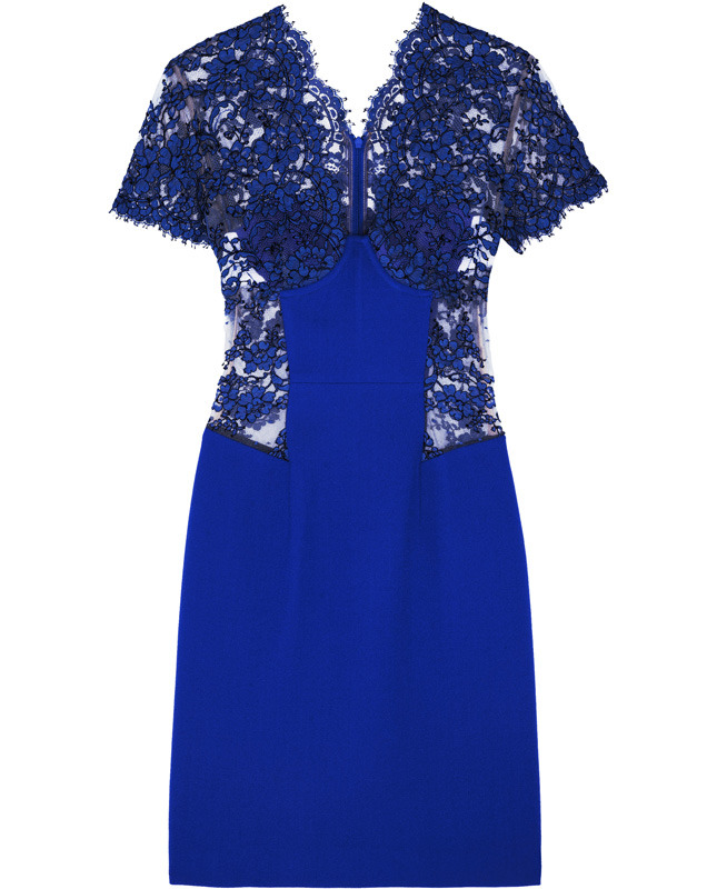 CHRISTOPHER KANE Lace-paneled wool-crepe dress €1,045