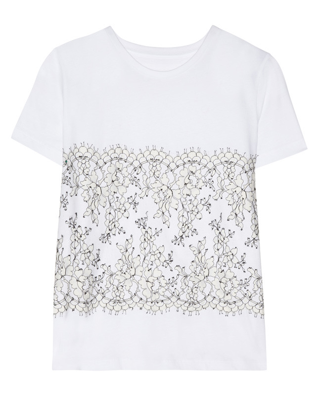 CHRISTOPHER KANE Lace-appliquéd cotton and cashmere-blend T-shirt €305