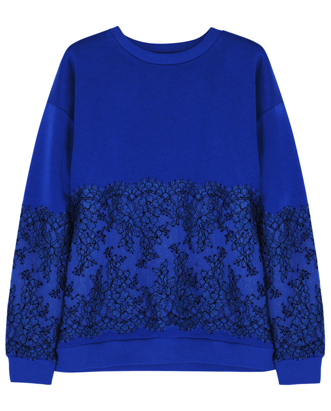 CHRISTOPHER KANE Lace-paneled cotton-blend jersey sweatshirt €405