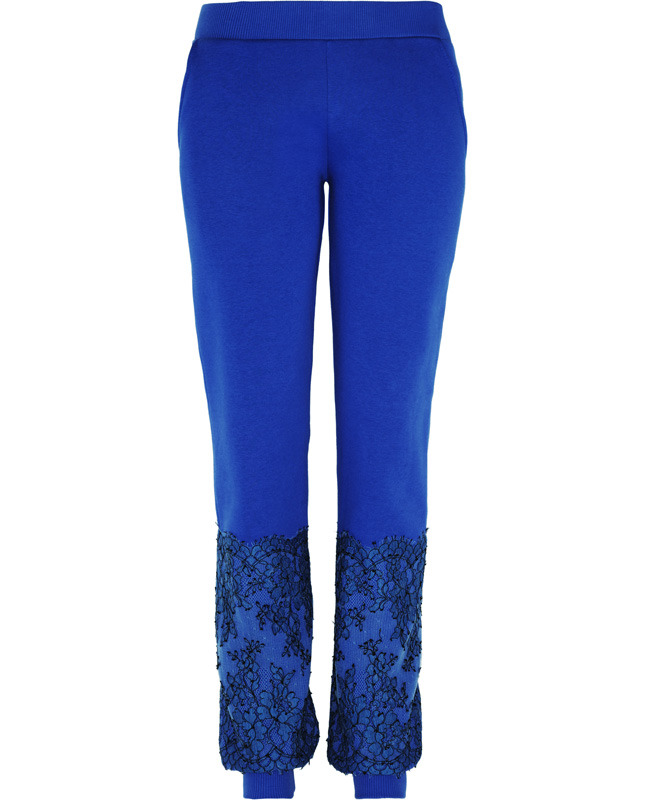 CHRISTOPHER KANE Lace-paneled cotton-blend jersey track pants €340