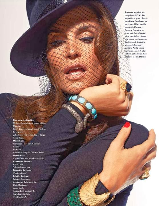 Cindy Crawford by John Russo for Marie Claire Mexico December 2013