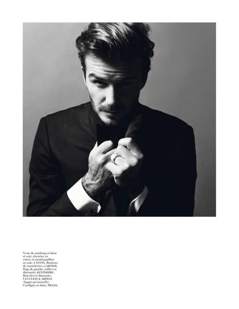 David Beckham by Inez van Lamsweerde & Vinoodh Matadin for Vogue Paris December 2013/January 2014