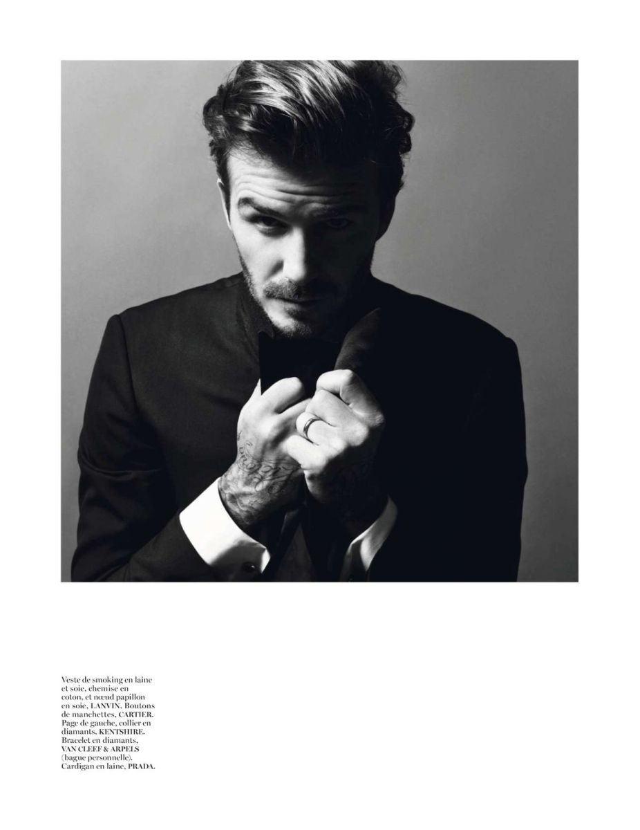 David Beckham by Inez van Lamsweerde & Vinoodh Matadin for Vogue Paris December 2013/January 2014