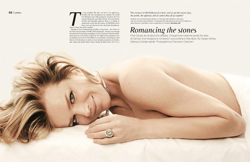 Eva Herzigova by Francesco Carrozzini for Sunday Telegraph Fall 2013