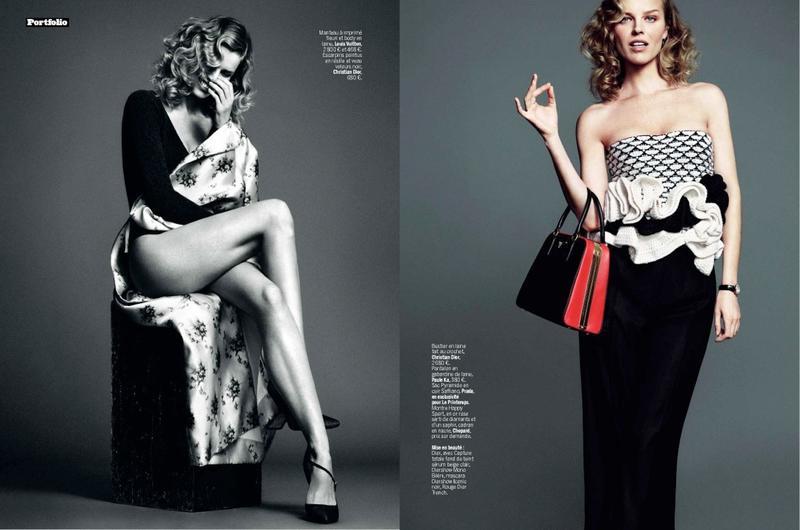 Eva Herzigova by Nico for L'Express Styles December 2013