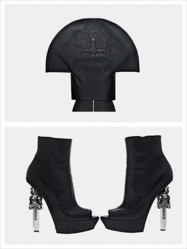 Gareth Pugh x Chrome Hearts collection