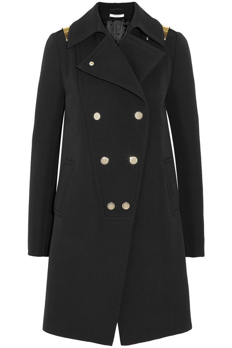 GIVENCHY Black double-breasted wool coat with gold bars €1,990