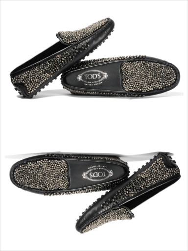 Gommino Couture rubber-soled beaded leather moccasin, Tod's Couture, €765