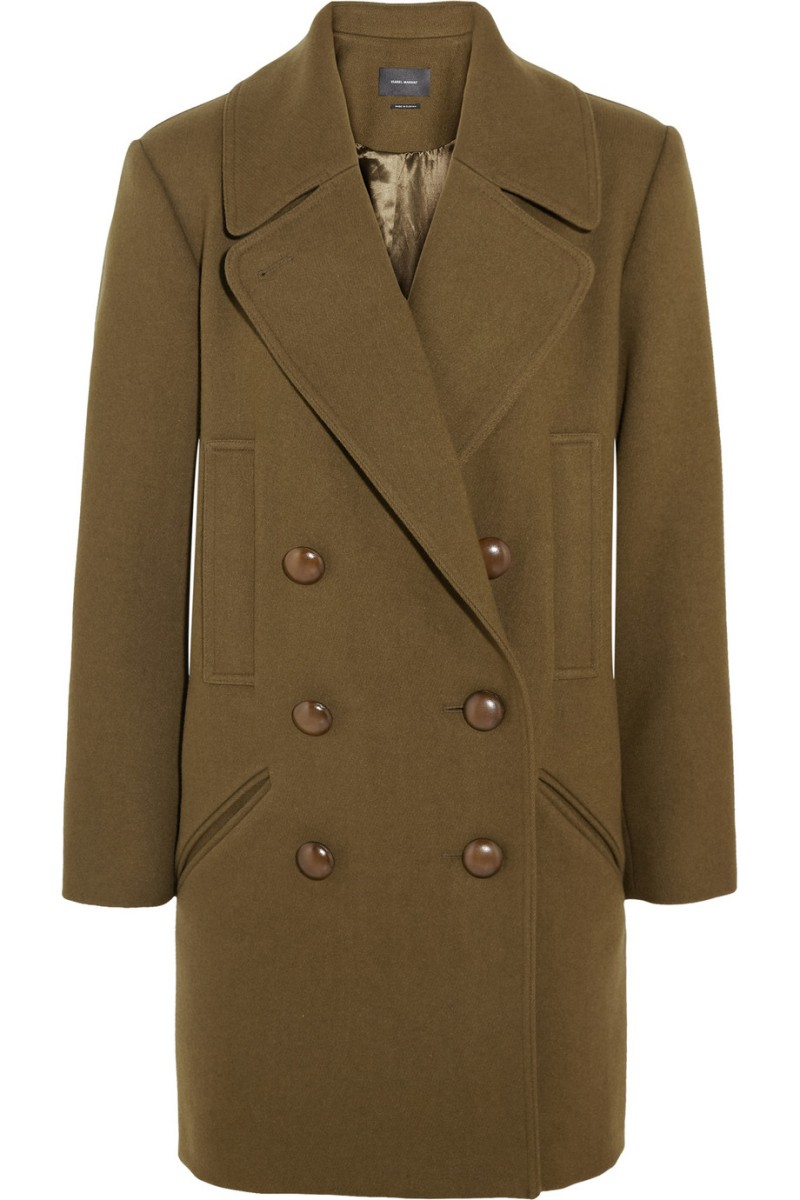 ISABEL MARANT Ziggy wool-blend brushed-twill coat €970
