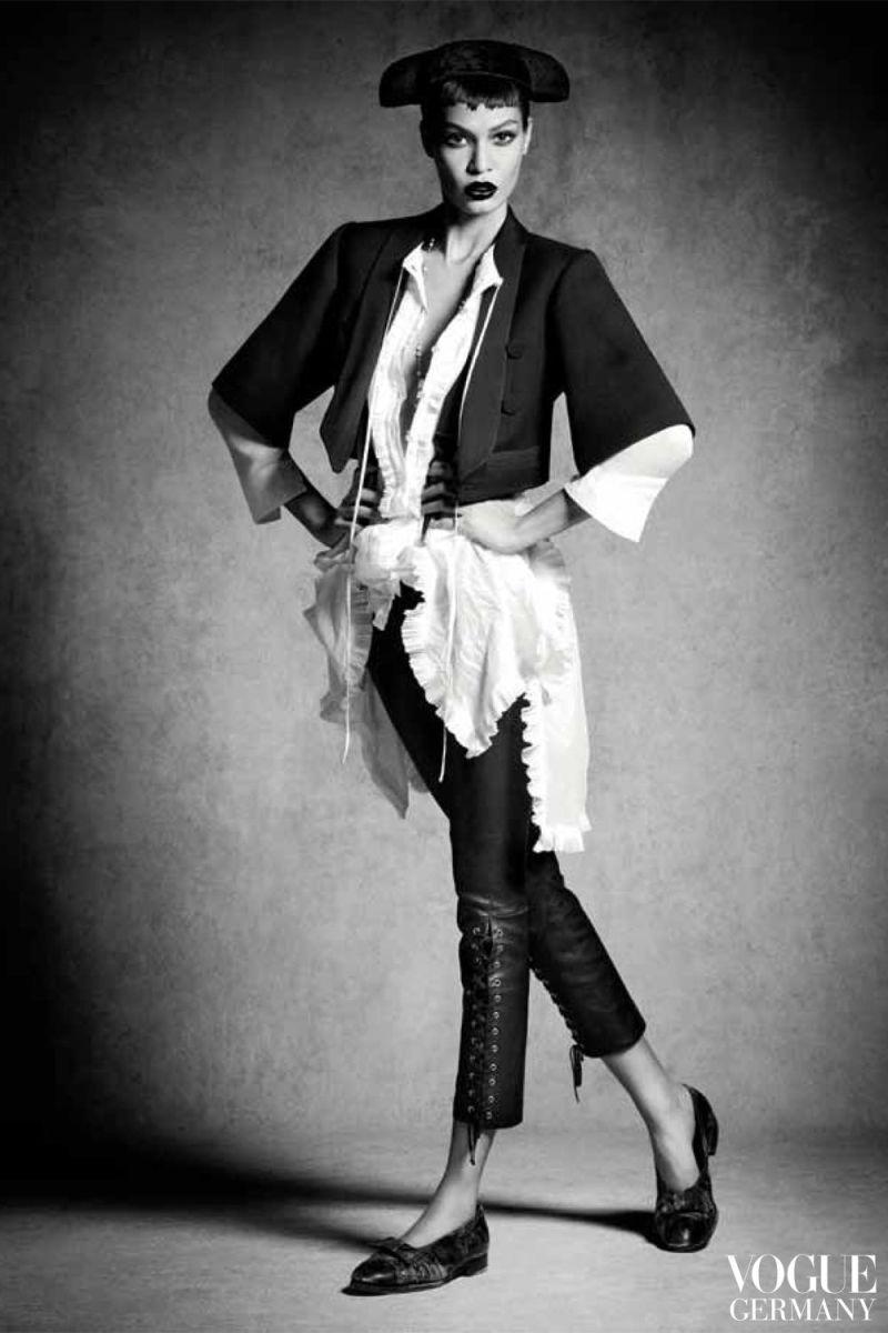Joan Smalls by Luigi And Daniele + Iango for Vogue Germany January 2014