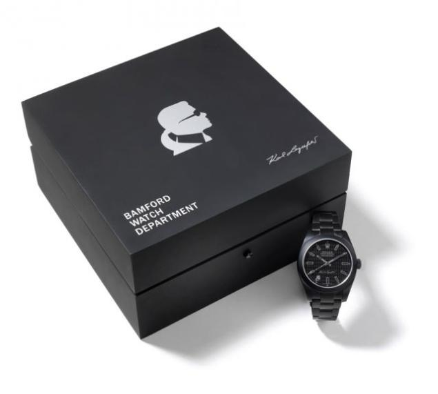 Karl Lagerfeld's Rolex Oyster Perpetual Milgauss by Bamford Watch Department