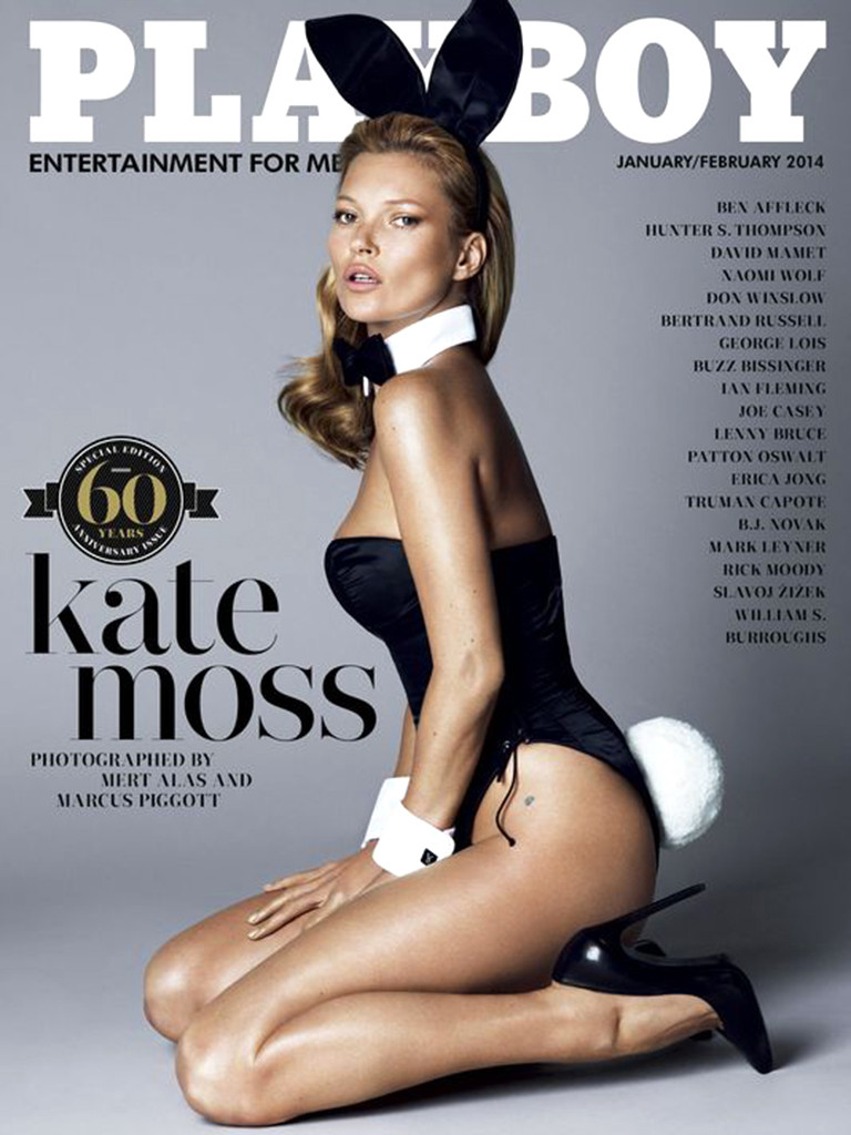 Kate Moss By Mert & Marcus For Playboy January / February 2014
