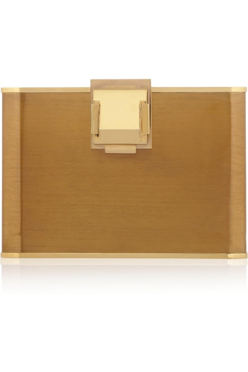 LANVIN Piaf Story gold-tone clutch €1,990