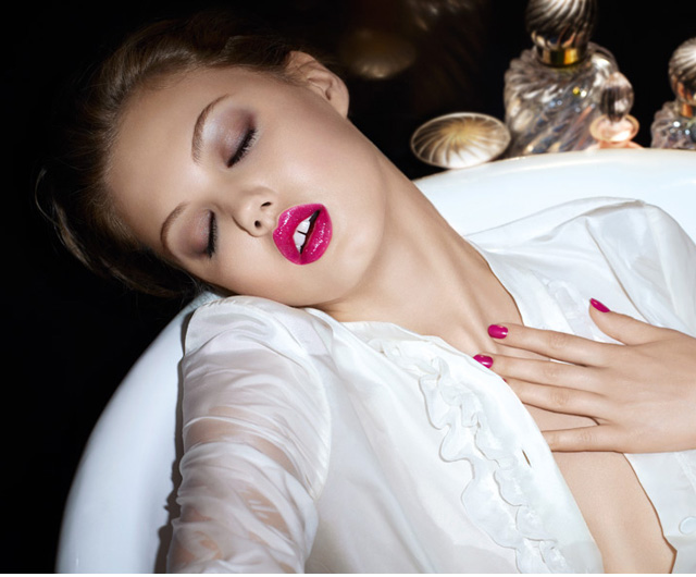 Lindsey Wixson for YSL Gloss Volupte Spring 2014