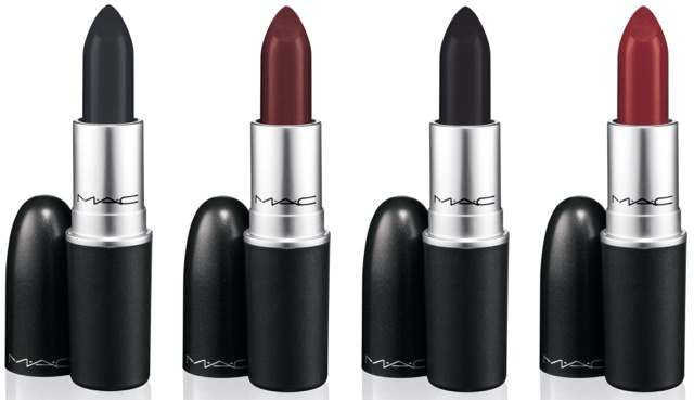 MAC Lipstick in (L-R) Punk Couture, Instigator, Hautecore & Studded Kiss ($15 USD / $18 CAD)