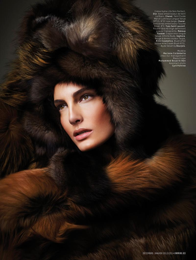 Mariana Coldebella by Laurence Laborie for L'Officiel Maroc December 2013/ January 2014