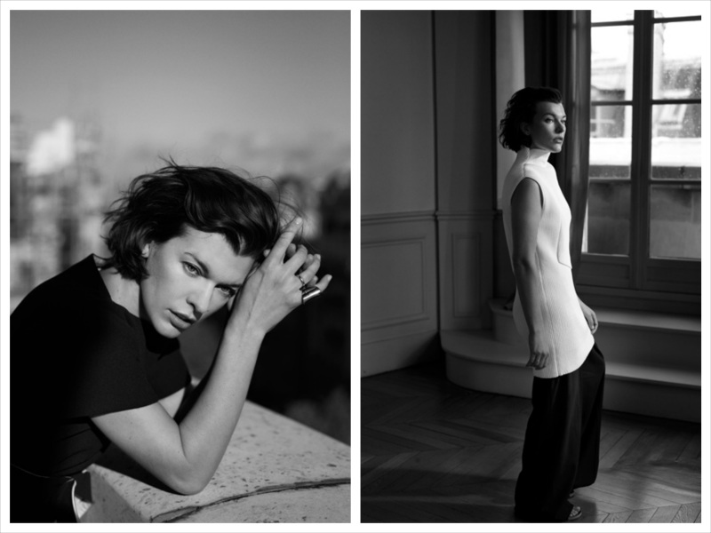 Milla Jovovich by Annemarieke Van Drimmelen for The Edit December 2013