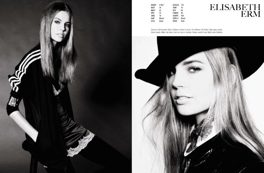 """Model Cards"" by Steven Meisel for Vogue Italia December 2013"