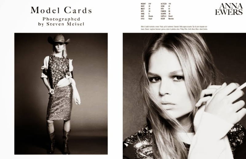 """Model Cards"" by Steven Meisel for Vogue Italia December 2013"