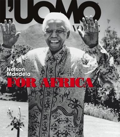 Nelson Mandela Photo by Anton Corbijn for L'Uomo Vogue November 2008