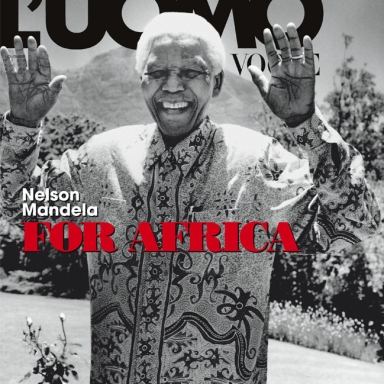 Nelson Mandela Photo by Anton Corbijn for L'Uomo Vogue November 2008