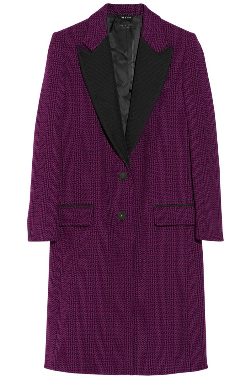 RAG & BONE Wooster tweed wool-blend coat €1,135
