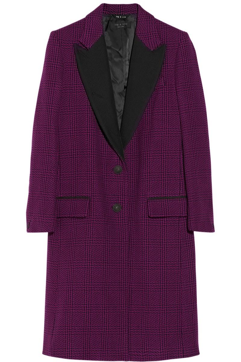 RAG & BONE Wooster tweed wool-blend coat €1,135