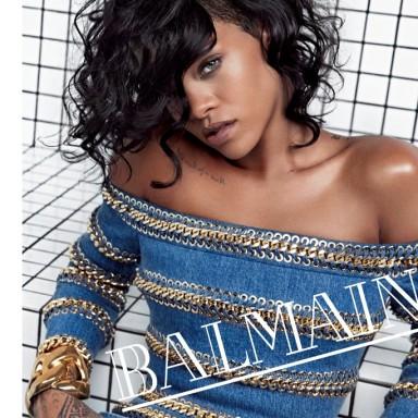 Rihanna by Inez & Vinoodh for Balmain S/S 2014 Ad Campaign