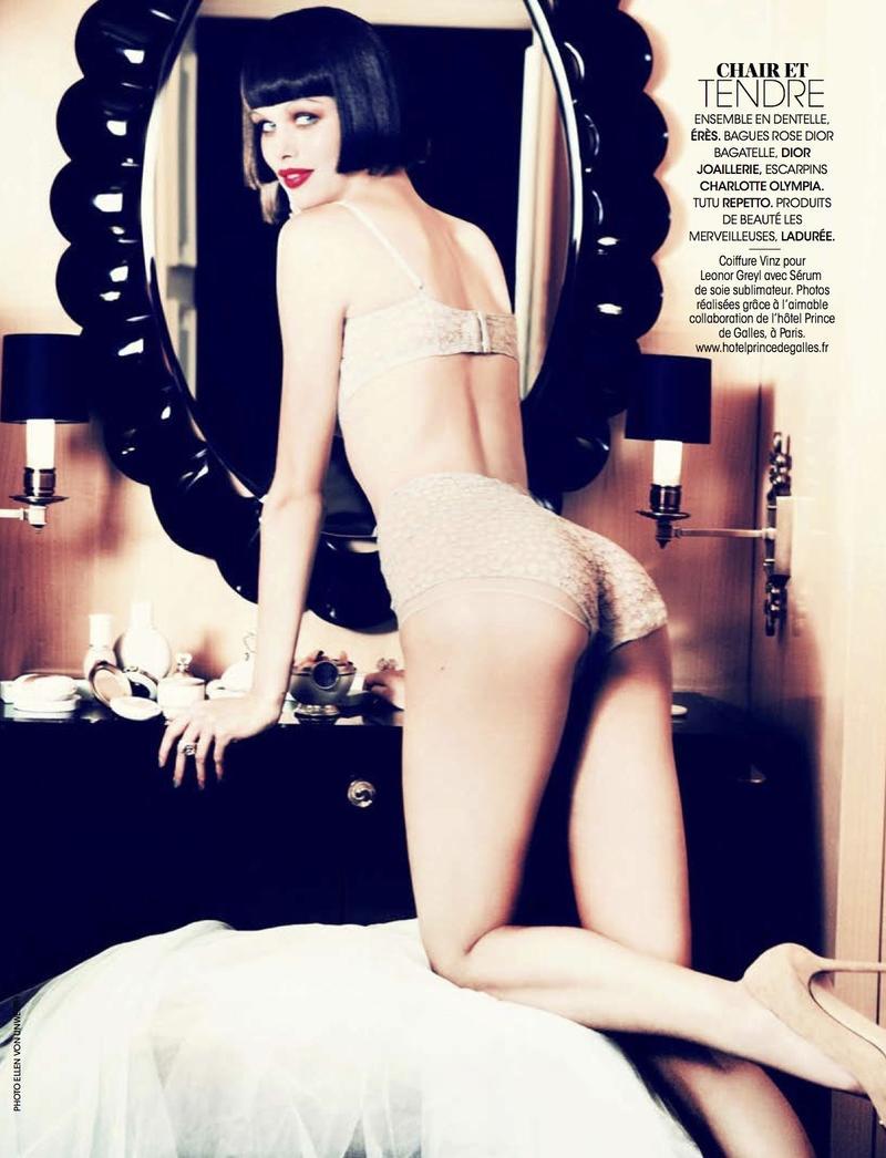 """""""Sexy Boudoir / Glam Cabaret"""" by Ellen von Unwerth for Madame Figaro December 2013"""