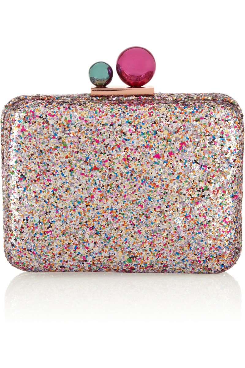 SOPHIA WEBSTER Azealia glitter-finished leather clutch €575