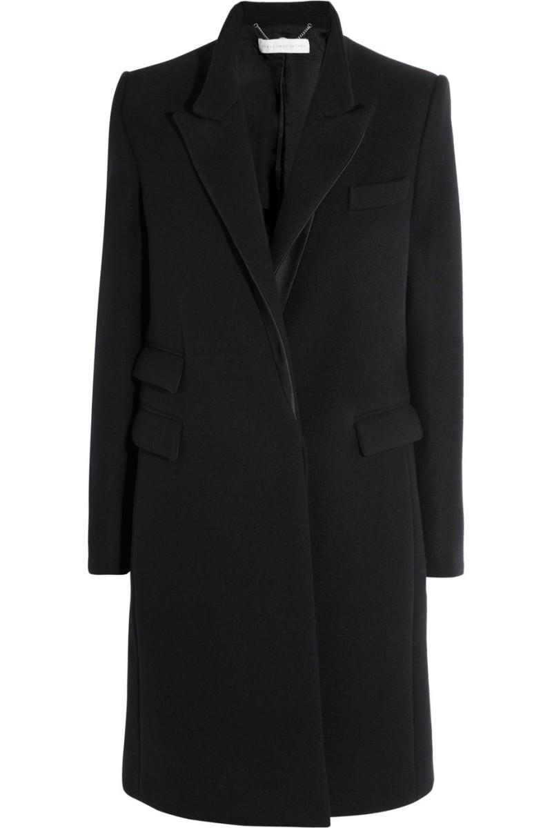 STELLA MCCARTNEY Alexandra satin-trimmed wool coat €1,600