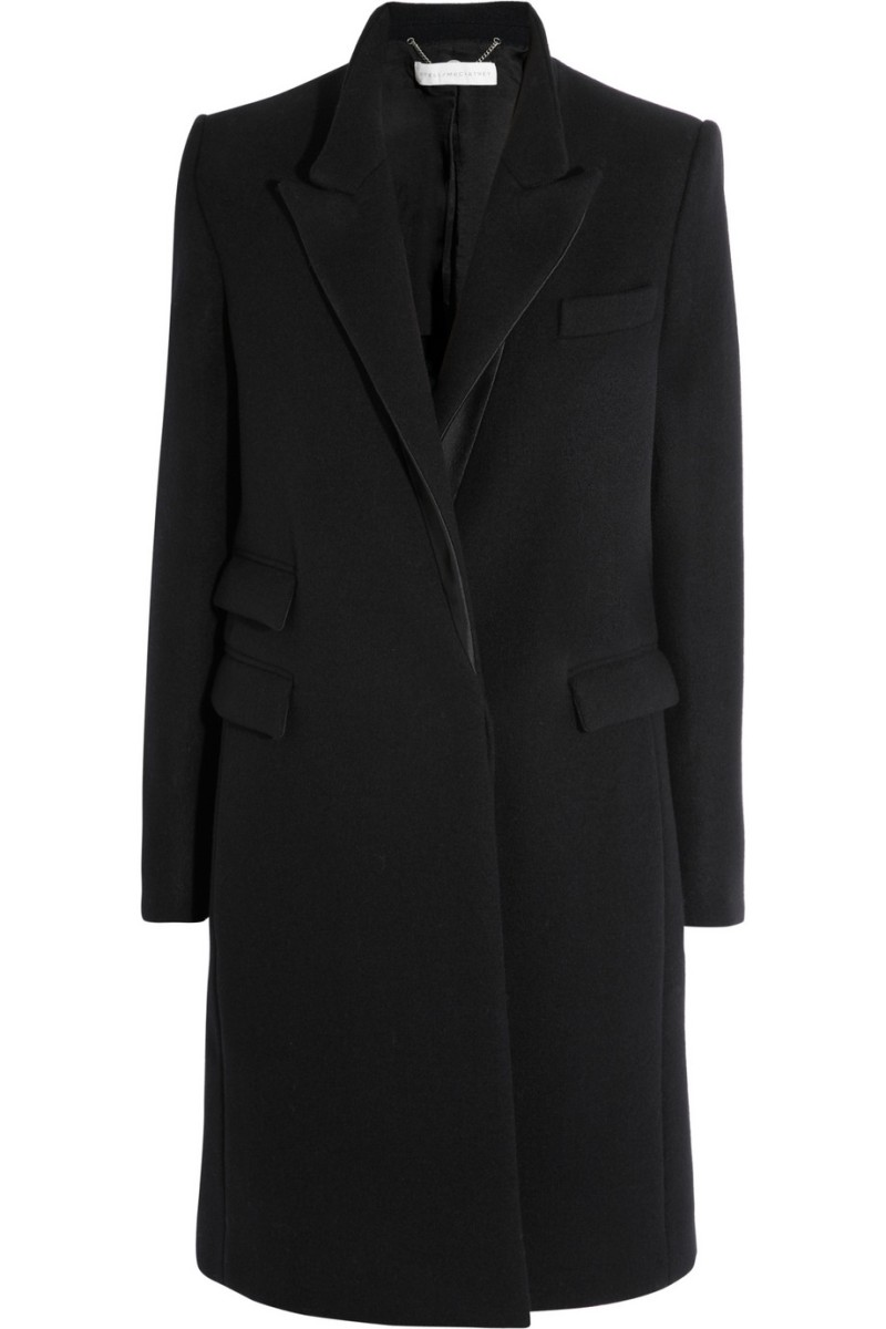 STELLA MCCARTNEY Alexandra satin-trimmed wool coat €1,600
