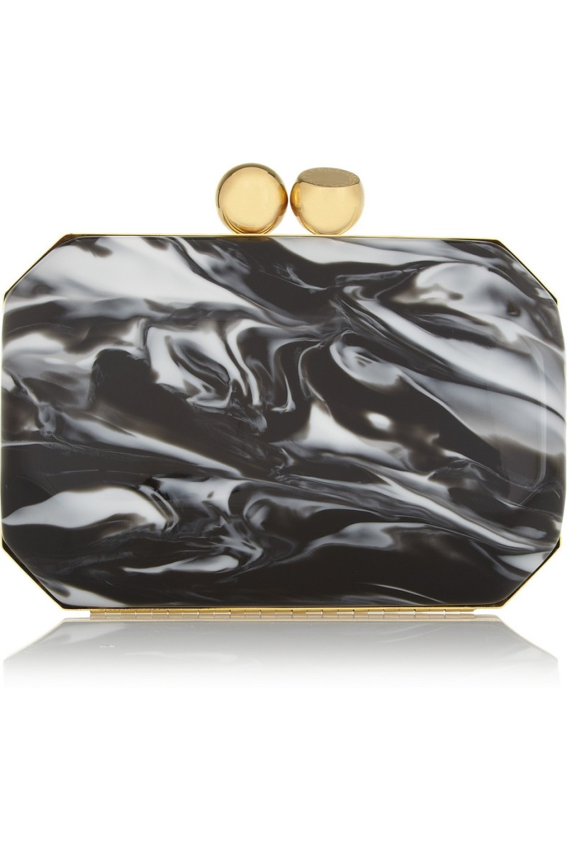 STELLA MCCARTNEY Marbled acetate box clutch €1,450