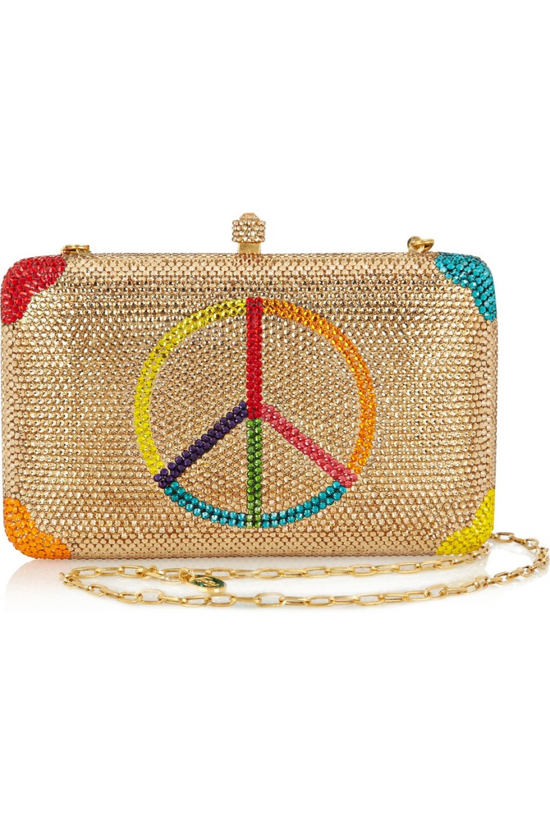 SYLVIA TOLEDANO Peace Please Swarovski crystal-embellished box clutch €1,250