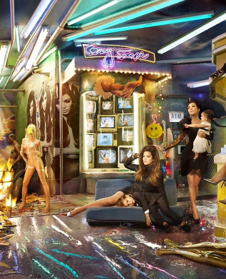 The Kardashians Christmas Card by David LaChapelle